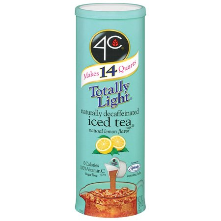 4C Iced Tea Tubs Totally Light Decaffeinated With Lemon Flavor - 4 Pack