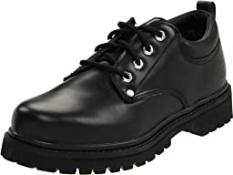 Skechers USA Men\'s Alley Cat Utility Oxford,Black Smooth,10.5 M US