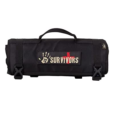 12 Survivors First Aid Rollup Kit, Black from Sellmark Corporation