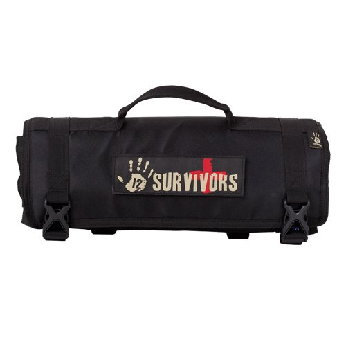 12 Survivors First Aid Rollup Kit, Black