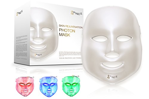 LED Photon Therapy Red Blue Green Light Treatment Facial Beauty Skin Care Phototherapy Mask (Skincare Equipment Packages compare prices)