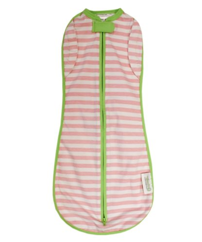 Woombie Convertible, Pink Stripes Non Vent, Newborn 5-13 Lbs - 1