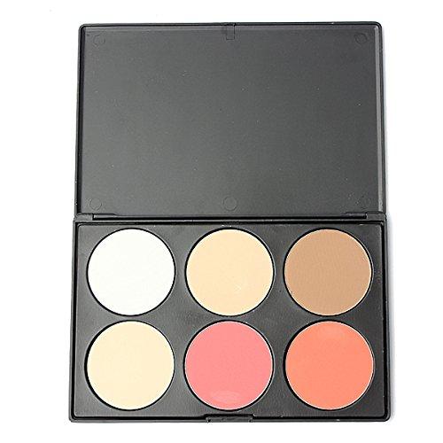 LuckyFine 6 Couleurs Palette de Maquillage Correcteur Camouflage Poudre Blush Eyeshadow Fard A Paupières