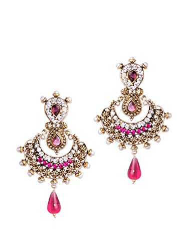 Bazarvilla Traditional Multicolor Earring Set RCJ3095
