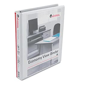 Universal Office Economy D-Ring Vinyl View Binder