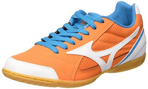 Mizuno Sala Club In, Scarpe da Calcetto Uomo, Arancione (Vibrant Orange/White/Atomic Blue), 42 EU