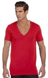 CN UNISEX DEEP V-NECK TEE (RED) (XL)