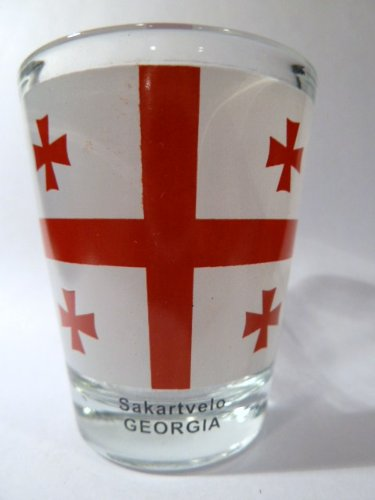 Georgia (Country) Flag Shot Glass