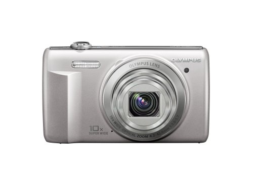 Olympus VR-340 16MP Digital Camera with 10x Optical Zoom (Silver)
