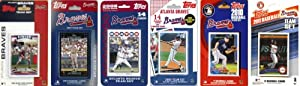 MLB Atlanta Braves 6 Different Licensed Trading Card Team Sets by C&I Collectables