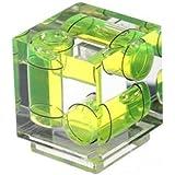 Polaroid triple nivel de burbuja con zapata para cámaras digitales y de filmación Canon y Nikon