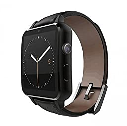 Newsunshine A8 Black 1.54 Inch Bluetooth Smart Watch Wristwatch IPS Heart Rate Monitor Pedometer Camera for iPhone 5,6 6S Plus Android Smart Phone Samsung Galaxy S5 S6 Note 4 Note 5 Mobile Phone