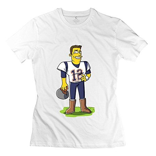 Wei-Jr Girls Tom Brady T Shirt Size M White
