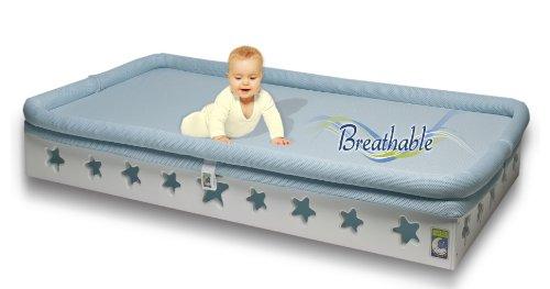 Secure Beginnings Heaven Sent Breathable Crib Mattress Base, Star-White, Standard