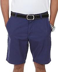 Irene Men's Cotton Shorts (Ire-mens-shortsblue_30,Blue,30)