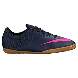 Nike Kids Jr Mercurialx Pro IC Mid Navy/Mid Navy/Pink Blst/Rcr B Indoor Soccer Shoe 3 Kids US