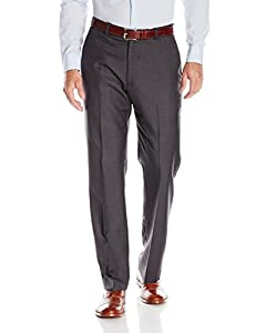 Perry Ellis Men's Tonal Micro Pattern Dress Pant, Charcoal, 34x34