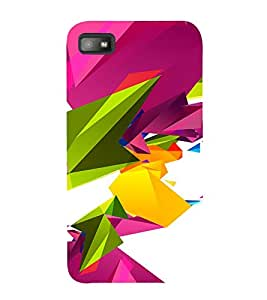 PrintVisa Colorful Modern Art 3D Hard Polycarbonate Designer Back Case Cover for Blackberry Z10