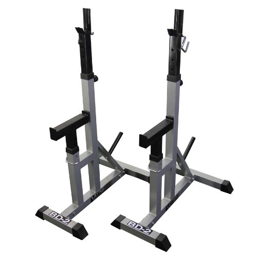 Valor Fitness BD-2 Independent Bench Press Stands, Pewter (Machine Bench Press compare prices)