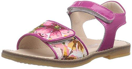 Andrea Morelli FLOWER SANDAL, Scarpe primi passi bambine, Rosa (Pink (TE FIORI/FUXIA)), 22