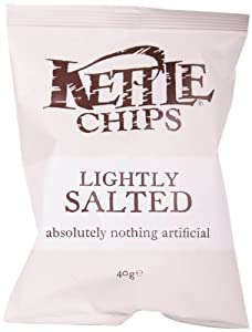 Kettle Chips Lightly Salted 40 g (Pack of 18)