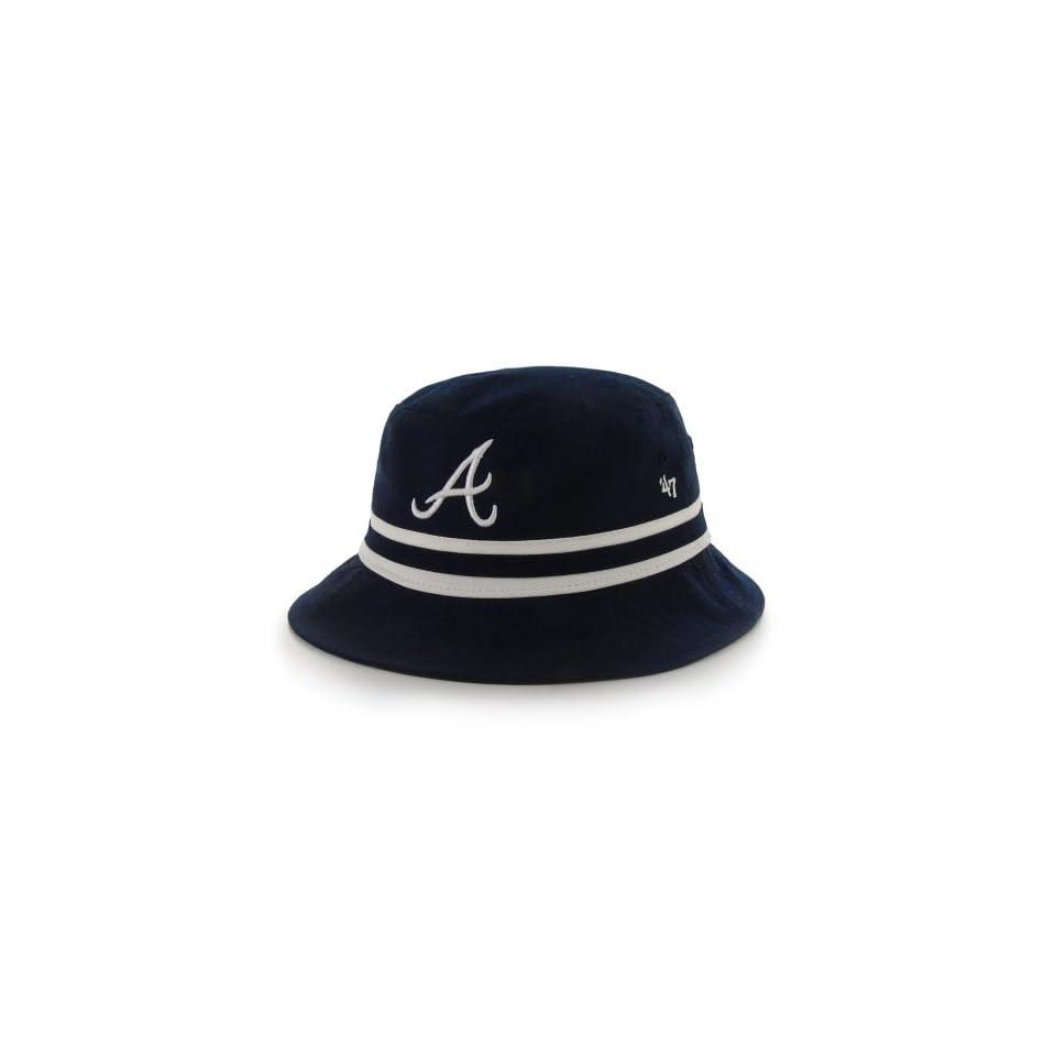 876d3a45563 Atlanta Braves hats 47 Brand Atlanta Braves Bucket Hat Navy Blue on ...