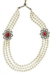 Syonaa dulha mala made with pearls and stones
