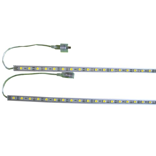 Lerway 20Inches Rigid Led Strip Warm White Cabinet Light Bar SMD 50cm Pack of 2Pcs