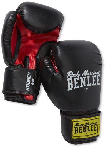 BENLEE Rocky Marciano Boxhandschuhe Training Gloves Rodney, Schwarz/Rot, 08, 194007