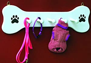 Wooden Dog Bone Leash Holder