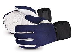 Superior VIBGV Vibrastop Goatskin Leather Palm Full-Finger Vibration-Dampening Glove, Work, 9\