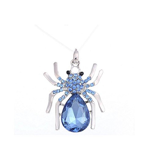Darkey Wang Fashion Jewelry Unisex Personalized Spider Hollow Gem Diamond Pendant Flash Necklace (Cute Halloween Fundraising Idea)