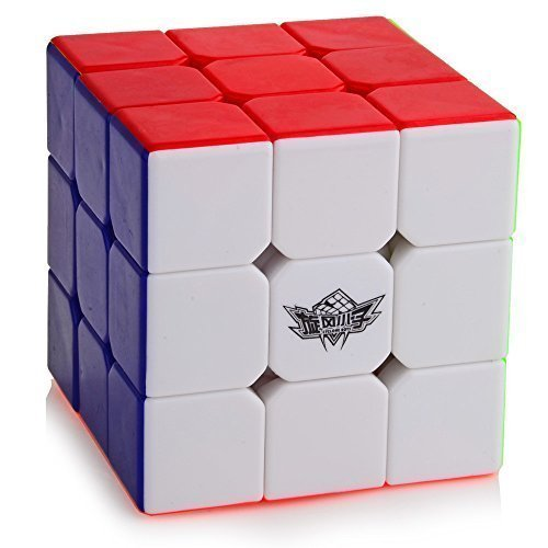 D-FantiX Cyclone Boys 3x3 Speed Cube Stickerless Magic Cube 3x3x3 Puzzles with Free Stand (56mm)