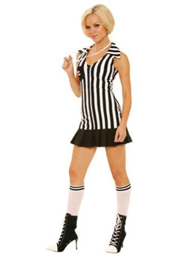 Referee Lg Size 10-14 Adult Womens Costume