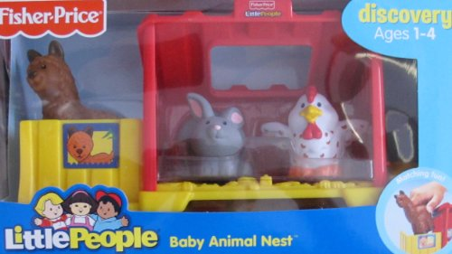 Fisher Price LITTLE PEOPLE Discovery BABY ANIMAL NEST w Farm Animals BABY LLAMA, BUNNY & CHICK Figures & MORE! (2007) (Fisher Price Discovery Cottage compare prices)
