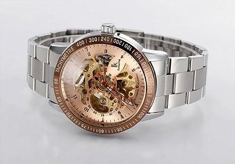 Amazon.com: IK Mechanical Watch Mens Automatic Movement Skeleton ...