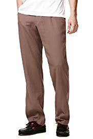 Big & Tall Linen Blend Straight Leg Regular Fit Trousers