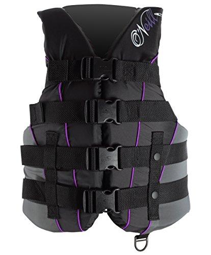 O'Neill Wake Waterski Women's Superlite USCG Vest (Blk/Blk/Col, Large)