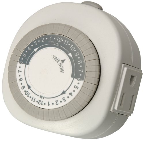 Woods 59366 Lamp and Appliance Timer with 3-Prong Outlet, Repeats Daily