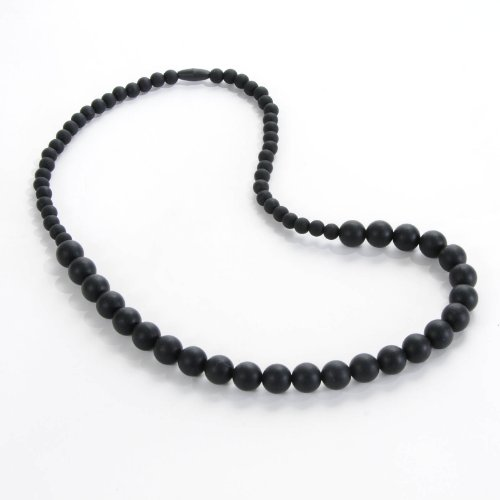 Sassy Baby Beads Mommy And Baby Silicone Graduated Chew Teething Beads Necklace - Black
