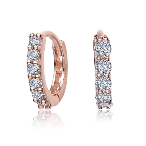 CZ SMALL HUGGIE EARRINGS