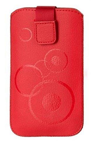 """'Premium custodia con decorazione rosso adatto per """"Samsung Galaxy J3Custodia protettiva sottile rosso con chiusura in velcro"""