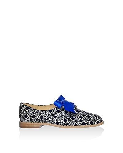 L37 Zapatos de cordones Negro / Blanco
