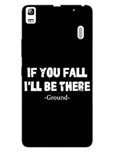 If You Fall Ground Is There For You - Typography - Hard Back Case Cover for Lenovo A7000 - Superior Matte Finish - HD Printed Cases and Covers