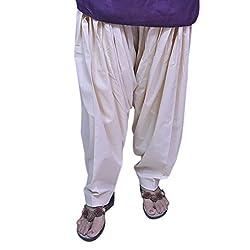 Jehal women's cotton Patiala salwar (beige-cream_ Free size)