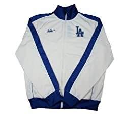 Nike Los Angeles Dodgers Track Jacket Zip Up - Ivory Royal - Large by Nike