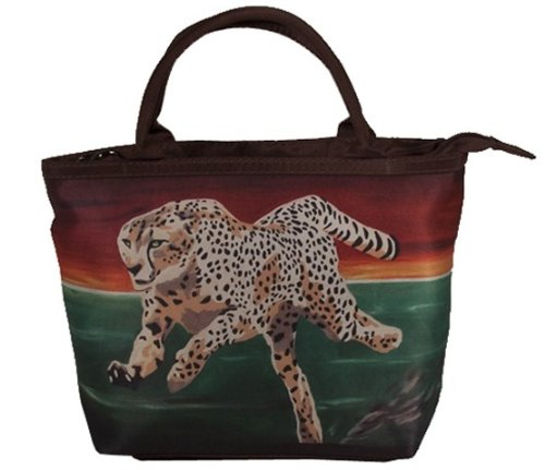 Cheetah Handbag Set - Matching Purse and Coin Purse, Great Gift! From My Original Painting, Shy Beauty- Support Wildlife Conservation - Read How