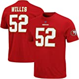 NFL Mens San Francisco 49ers Patrick Willis The Eligible Receiver Bright Cardinal Short Sleeve Basic Crew Neck Tee (Bright Cardinal, Small)