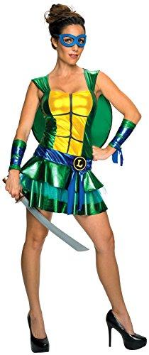 Women's Teenage Mutant Ninja Turtles Leonardo Costume Dress, XS to L