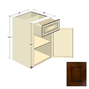 Espresso shaker kitchen cabinets b 18 for Amazon kitchen cabinets